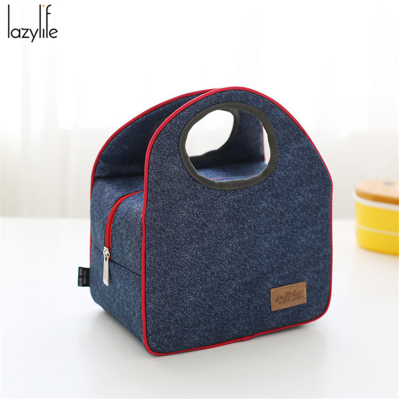 LAZYLIFE 2017 Fashion Portable Insulated Lunch Bag Thermal Food Picnic Lunch Bags For Women Kids Men Cooler Lunch Box Bag Tote