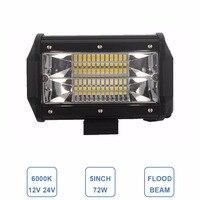 Offroad 5INCH 72W LED WORK LIGHT BAR FLOOD LIGHT 12V 24V CAR TRUCK SUV BOAT ATV