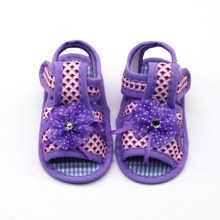 2019 baby sandals for girls mesh baby summer sandals geometric print soft bottom cotton baby toddler shoes(China)