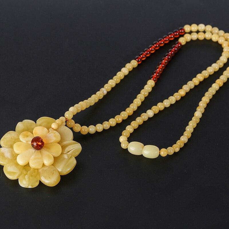 Pendentif de bijoux en cire d'ambre naturel, Mine de la mer baltique mode dames collier bijoux accessoires de fiançailles de bal