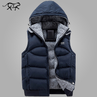 New Arrival Mens Jackets Sleeveless Autumn Winter Fashion Casual Coats Male Hooded Cotton Padded Men S