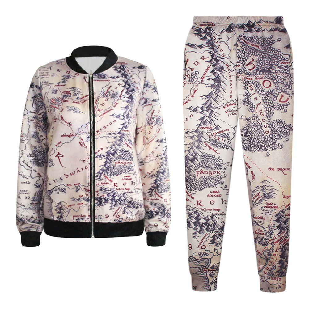Aliexpress Buy Middle Earth Map Jacket And Pants Set For – 3d Map of Middle Earth