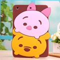 3D Cartoon Animal Pooh Stitch Mike Pattern Fundas Cover For Ipad 2/3/4/5/6 Ipad5 Ipad6 Soft Silicon Cases For Ipad Air/Air 2