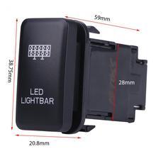 12V Blue LED Car On Off Rocker Toggle Switch for Toyota Hilux Landcruiser VIGO LED LIGHT BAR/DRIVING LIGHTS/WORK LIGHTS