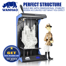 Hot sale,Wanhao D5S, Alum Structure Stable 3D printer,with large build size 205*305*605mm, in fast speed300mm/swithfree filament