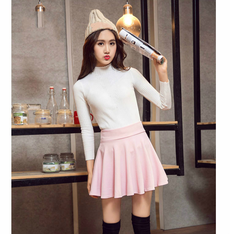 Women Large Size <font><b>5xl</b></font> Mini <font><b>Sexy</b></font> Short Safety Dance <font><b>Skirt</b></font> Female Girls High Waist Cute Pink Pleated Office <font><b>Skirts</b></font> Ladies Clubwear image