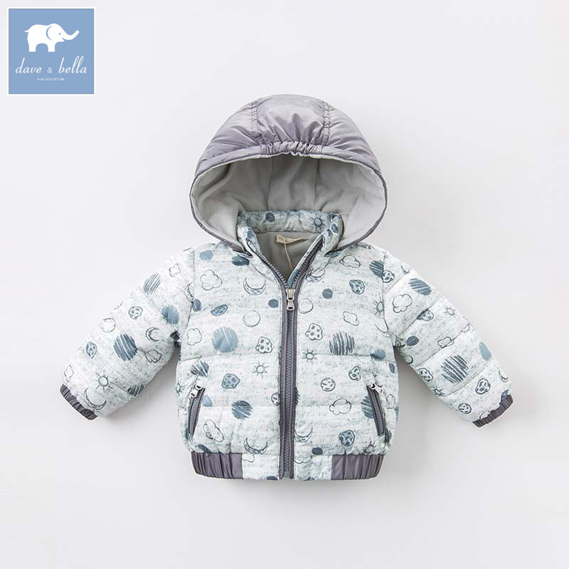 DBM6550 dave bella autumn winter baby boys down jacket children star moon printed coat kids hooded outerwear db3814 dave bella autumn baby boys star printed t shirt kids navy tees bosy tops kids t shirts
