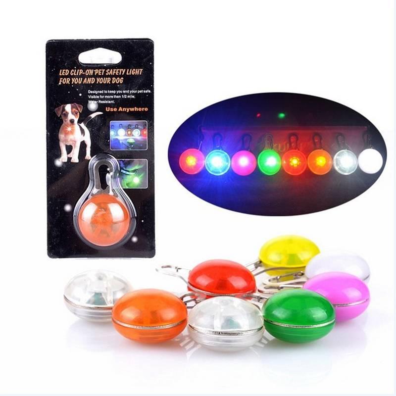 Светодиодный свет Pet Ошейник с кнопочный переключатель ночь безопасности вспышки света Для ошейник для домашних животных