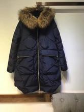 2016 winter  both sides disassemble big raccoon fur collar women down coat