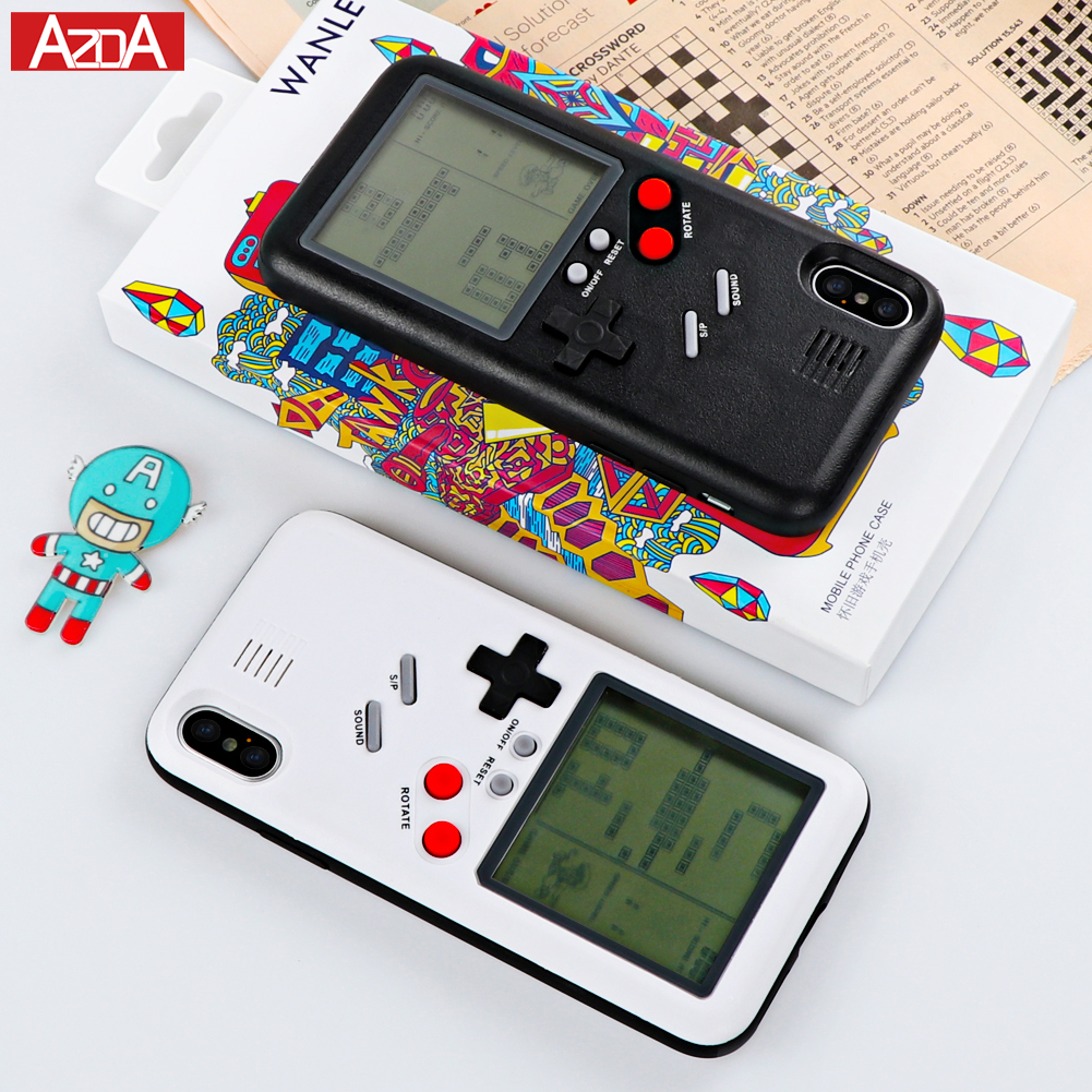 Originality Gameboy Tetris Phone Case for iPhone X Case for iPhone 6 6S 7 8 Plus Play Blokus Game Console Cover Protection Cases