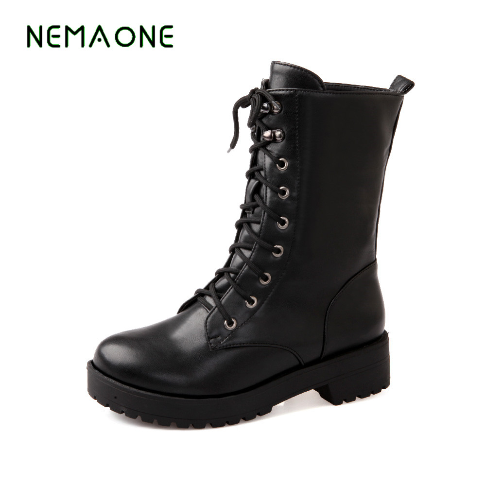 NEMAONE autumn winter women ankle boots new fashion woman snow boots for girls ladies work shoes plus size 35-43 new autumn winter women fashion ankle