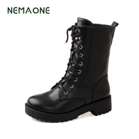 NEMAONE Autumn Winter Women Ankle Boots New Fashion Woman Snow Boots For Girls Ladies Work Shoes