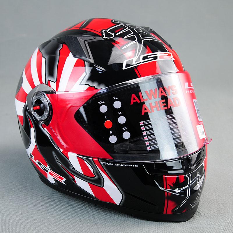цена на Brand LS2 ff358 Motorcycle Riding Full Face ABS Helmet Motocross Racing Protection Helmets Red Capacete de Moto for Men Women