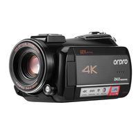 Ordro AC5 4 K UHD12X цифрового видео Камера FHD 24MP Wi Fi зум видеокамеры