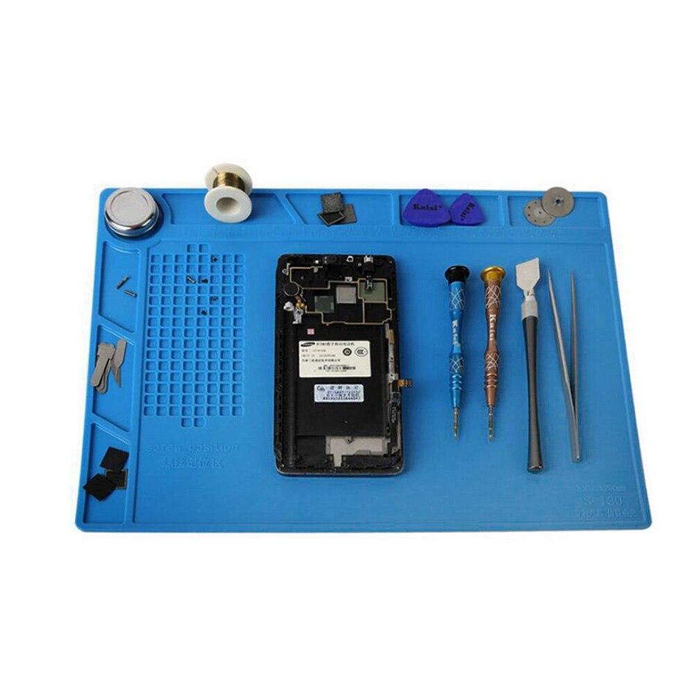 All Kinds Size Antistatic Heat Insulation Pad Thickening Silicone Working Mat Heat Gun Soldering Station Maintenance Platform