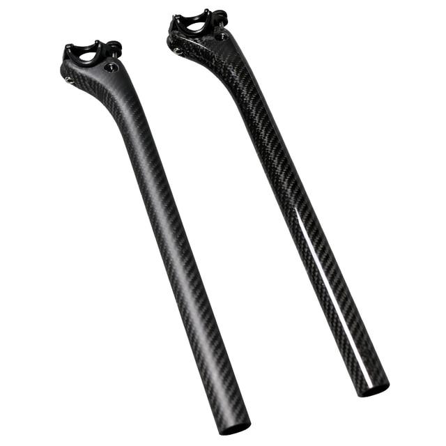 Full Carbon Fiber MTB Bicycle Seatpost Setback Offset 25mm Carbon Road bike Seat Post 3K Tube 27./30.8/31.6mm Bicicleta Parts