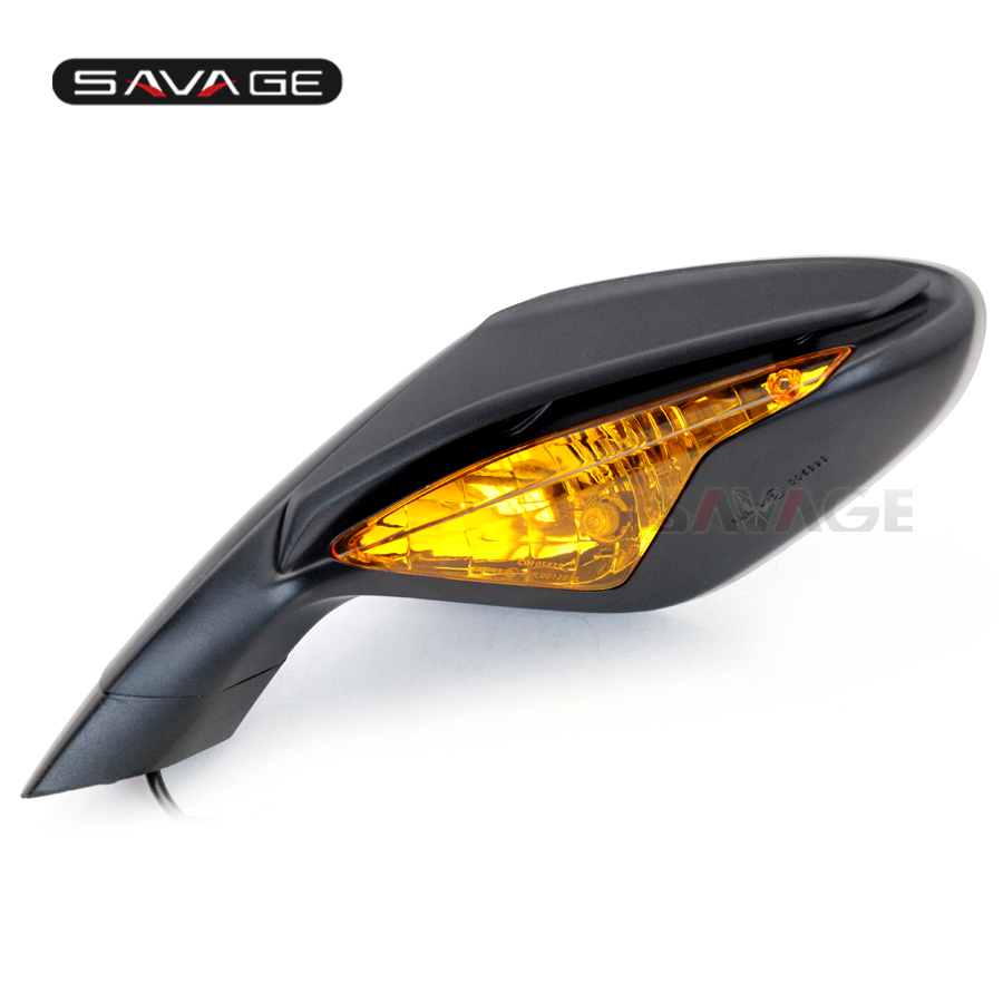 Rear View Mirrors For MV Agusta F3 675 2012-2018/800 2013-2017 With Turn Signals Blinker Indicator On The Left Brand New Pair