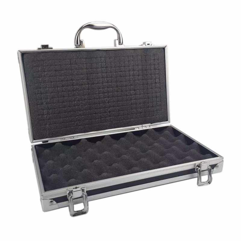 30x17x8 cm Aluminium Gereedschapskist Draagbare Koffer Veiligheid schokbestendig apparatuur Instrument case Opslag Toolbox Met pre -cut katoen