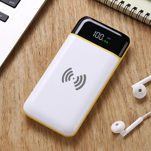 Fast charging wireless charging mobile power 20000mAh external battery portable mobile phone charger universal 2 USB tablet