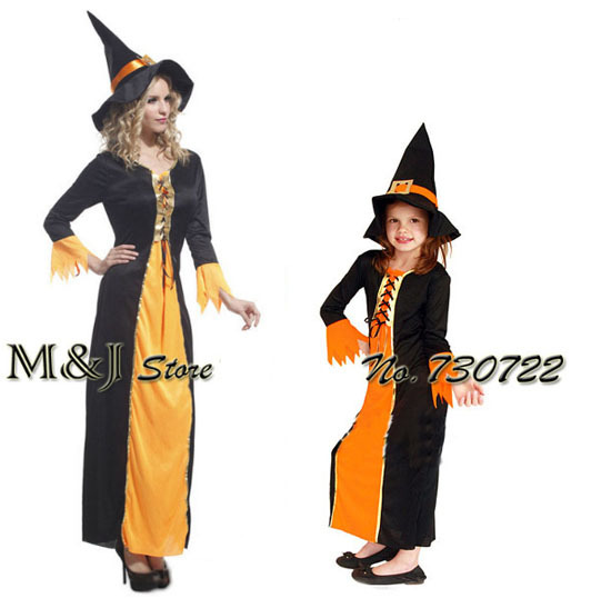 Free Shipping!!halloween Goethe Adult Female Witch Costume Christmas Party Adult Show Parent-child Bar