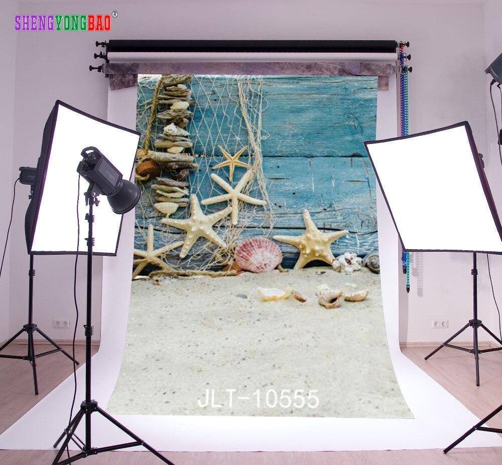 SHENGYONGBAO Arte Pano Fotografia Personalizado Backdrops Prop Digital Impresso praia tema Foto Fundo do Estúdio 10555