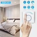 Teekar inteligente luz dimmer interruptor padrão da ue wi fi interruptor de luz toque app controle remoto trabalho com amazon alexa incluem lâmpada led