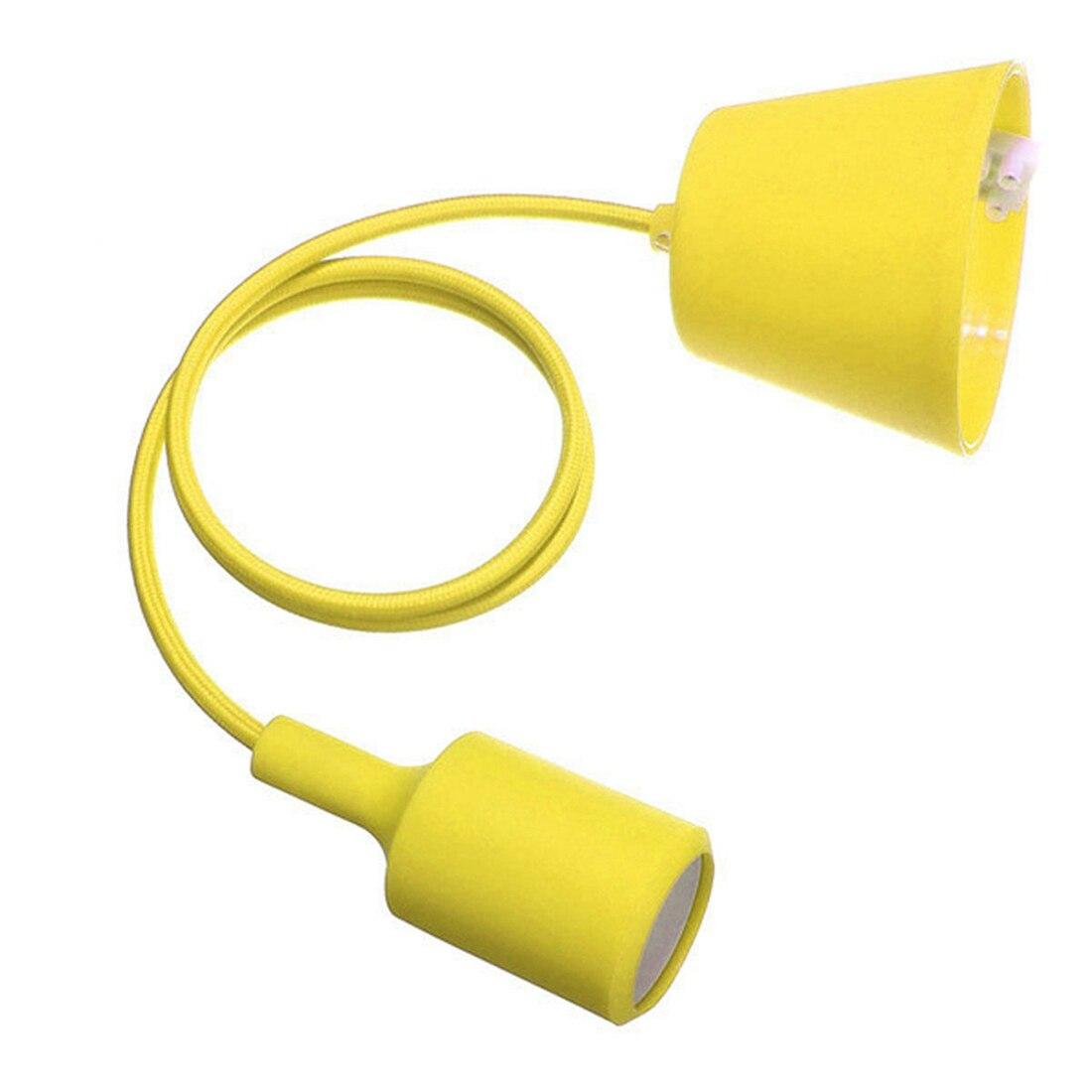 Yellow lamp base - E27 Silicone Rubber Mount Ceiling Lamp Bulb Lamp Cable Lamp Mount Diy Lamp Holder Lamp Base