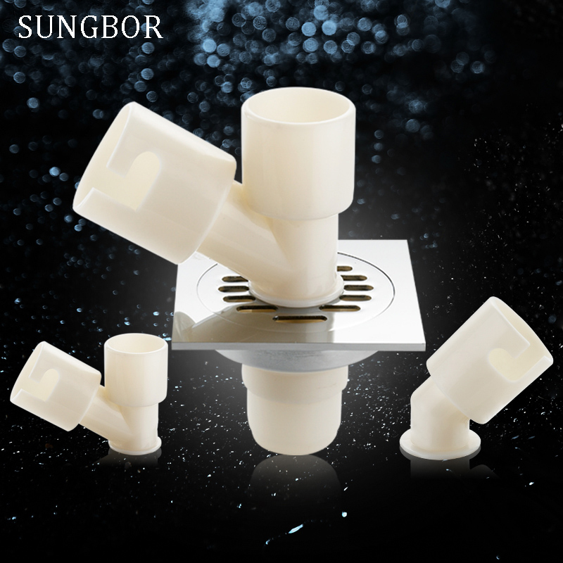 Free Shipping Washing Machine Floor Drain Connector Roller Drain Pipe Elbow Pond Pool Water Pipe Three-way Silicone Xsg-0009 Bright And Translucent In Appearance Bathroom Fixtures