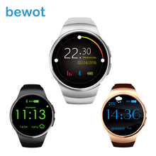2016 New Arrival Smart Watch KW18 WristWatch IPS Round Display Heart Rate Monitor Bluetooth4.0 MT2502C for iOS & Android