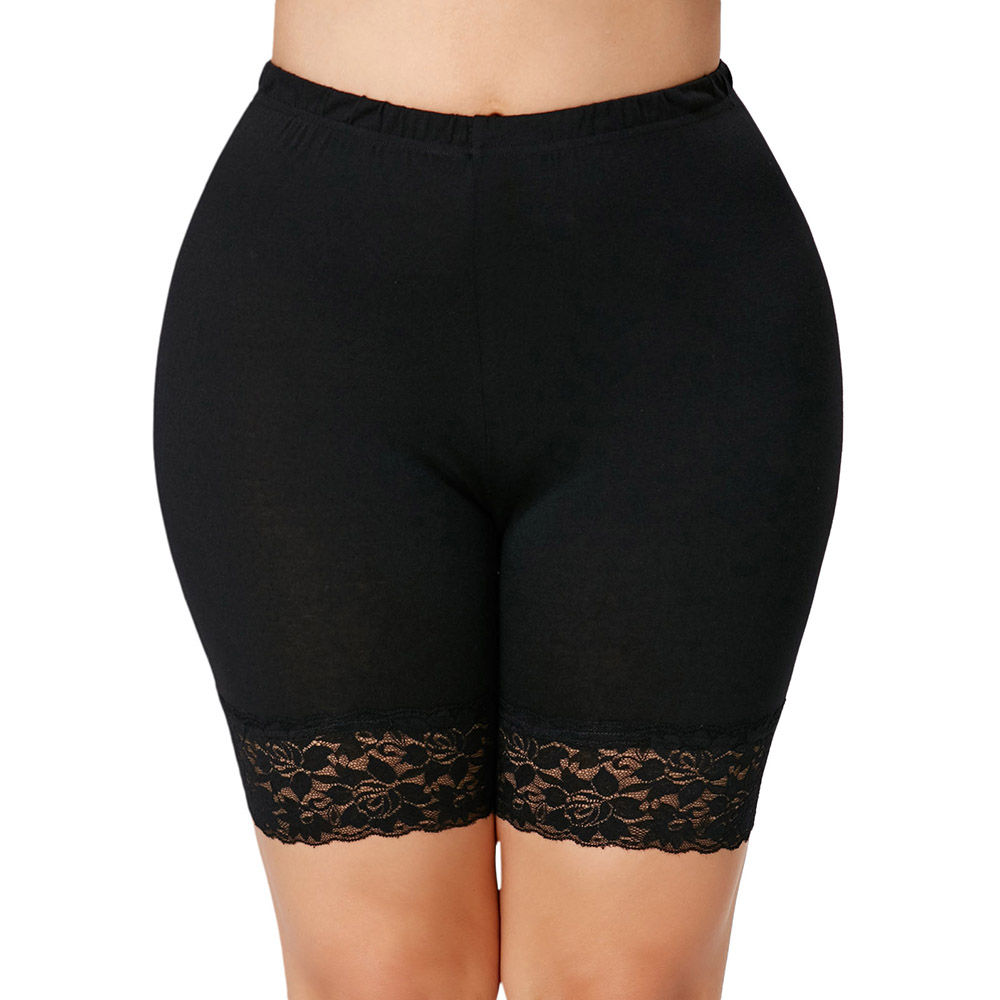 Gamiss Women Lace Safety Short Pants Plus Size 5XL Anti Emptied Underwear High Elastic Waist Short Boxer Shorty Fashion Pants