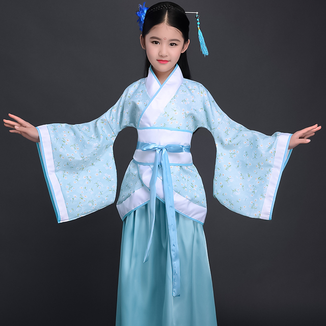 Costume Girls Children Kimono Traditional Vintage Ethnic Fan Students Chorus Dance Costume Japanese Yukata Kimono Style 4