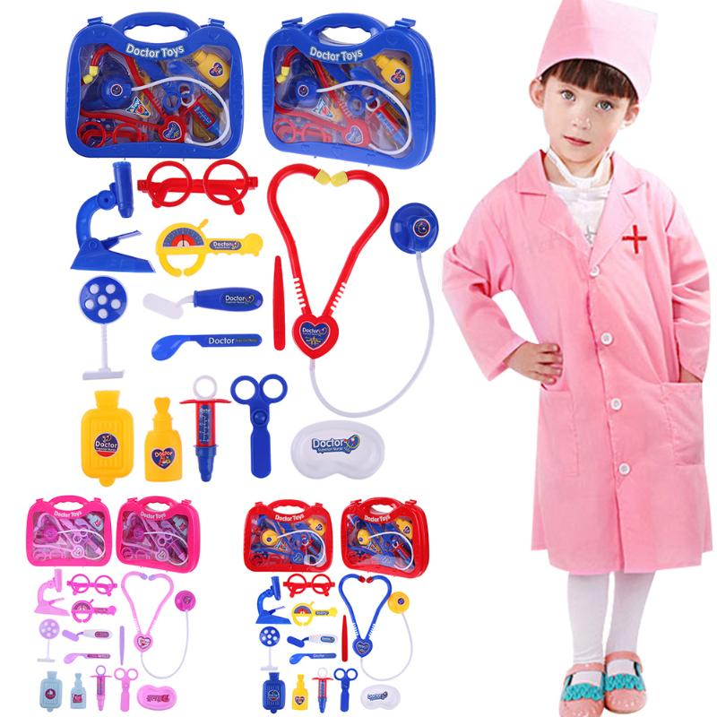 Simulation Doctor Medicine Box Toys Set Children Pretend Play Medical Kit Kids Gifts