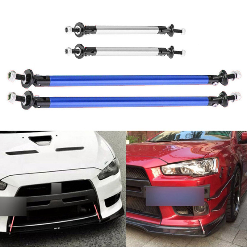 2Pcs/Lot Universal Adjustable Front Rear Bumper Lip Splitter Rod Support Bars Car Exterior Parts
