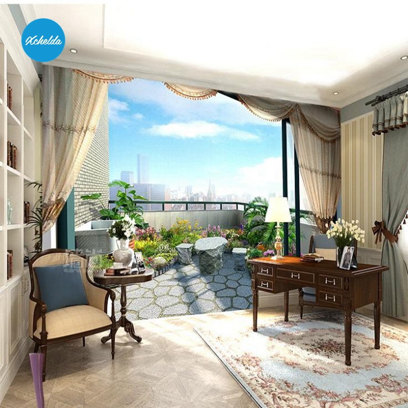 XCHELDA Custom 3D Wallpaper Design Balcony Photo Kitchen Bedroom Living Room Wall Murals Papel De Parede Para Quarto kalameng custom 3d wallpaper design street flower photo kitchen bedroom living room wall murals papel de parede para quarto