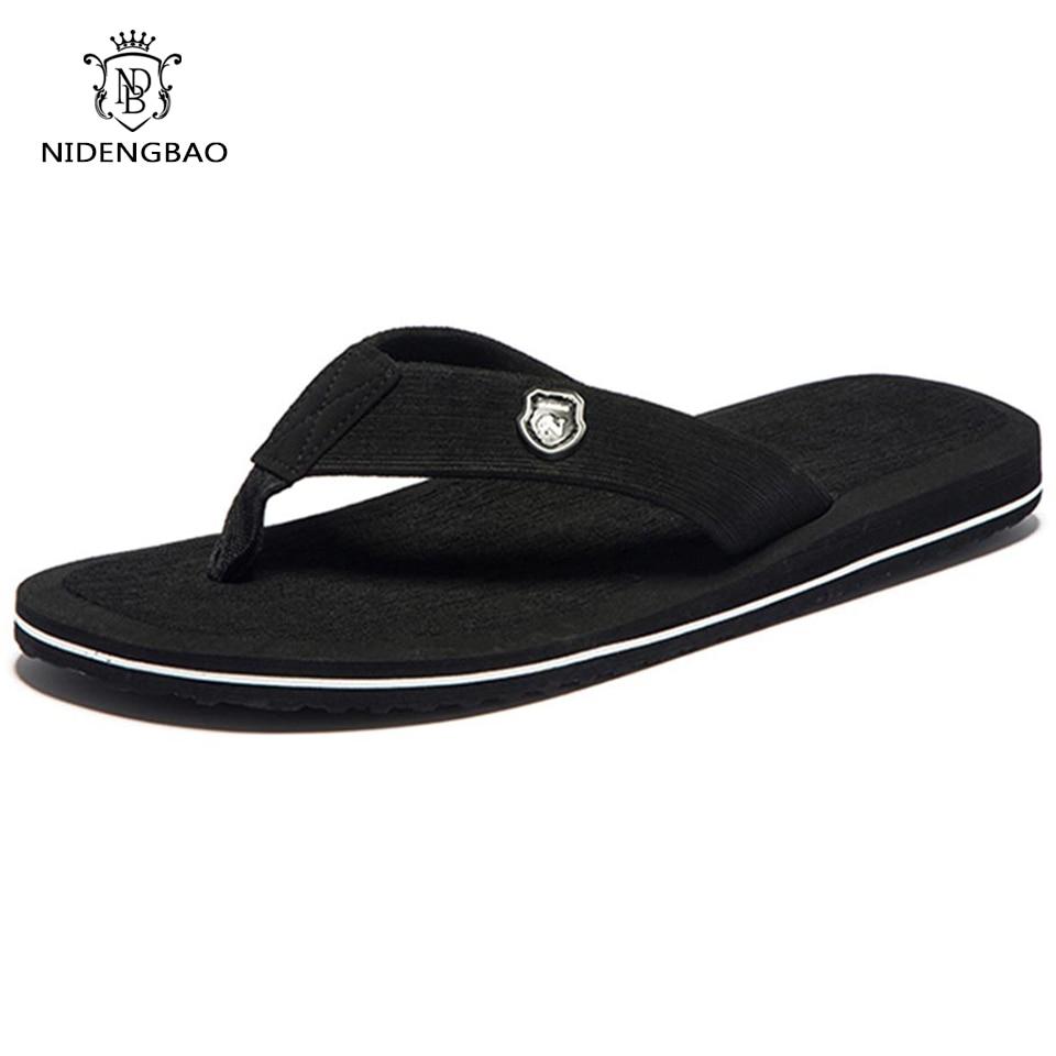 Летняя мода Для мужчин вьетнамки пляжные сандалии для Для мужчин тапочки на плоской подошве нескользящая обувь плюс размер 48 49 50 сандалии pantufa