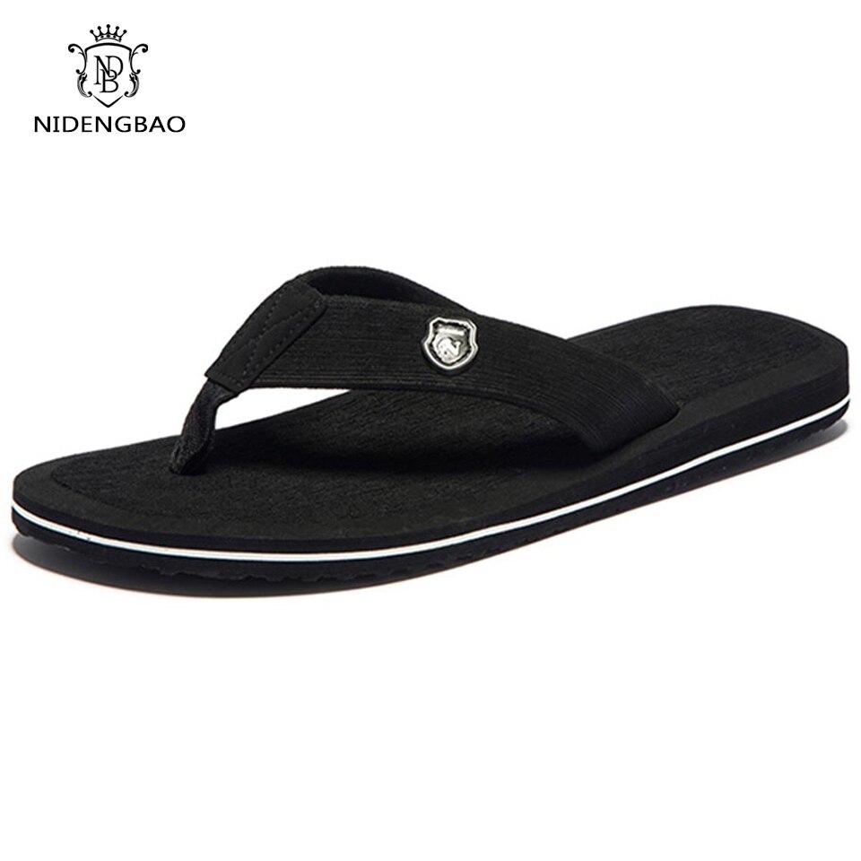 Los hombres de la marca flip flops, verano playa sandalias zapatillas para hombres pisos de alta Top zapatos antideslizantes zapatos de hombres más tamaño 48 49 50 sandalias Pantufa