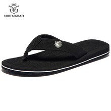 Sommermote Mænds flip-flops Beach Sandals for menn og kvinner Flat slippers sklisikker sko pluss størrelse 40-48 Sandals pantufa