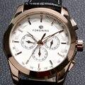 Горячие Продажи FORSINING Механические Наручные Часы Мужчины 3 Цвета Ремень Из Натуральной Кожи Мужская Платье Случайно Часы W18190