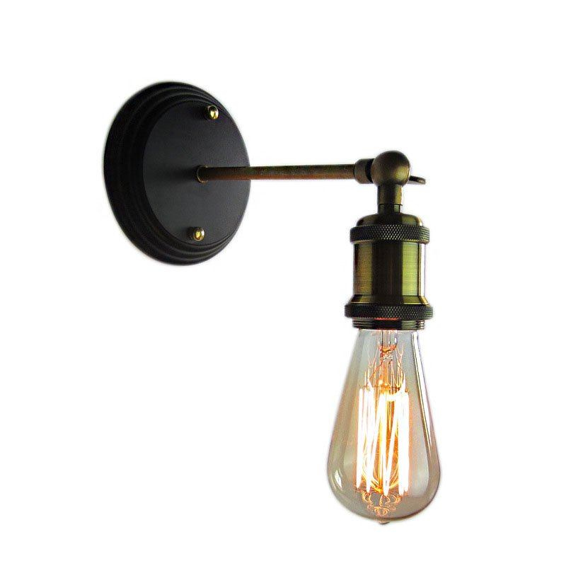 Reka bentuk kreatif vintaj besi dinding cahaya antik luminaria - Pencahayaan dalaman