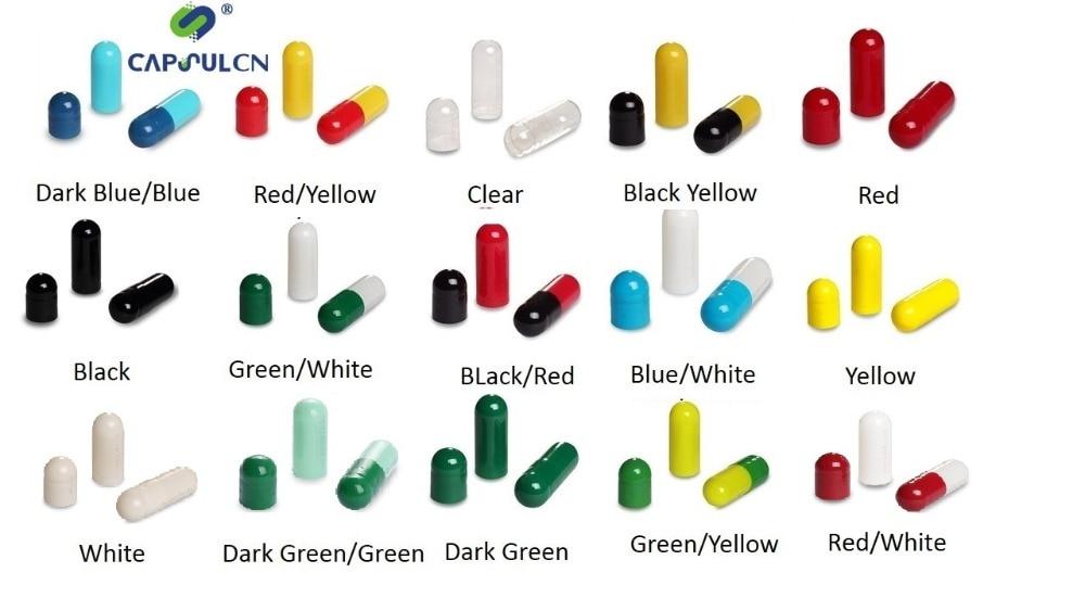 15 kleuren maat 0 gelatine lege capsules, 5000 Stuks Kleurrijke Holle Lege Gescheiden Gelatine Capsules Voor Capsule Filler Machine-in Voedsel Verwerkers van Huishoudelijk Apparatuur op  Groep 1