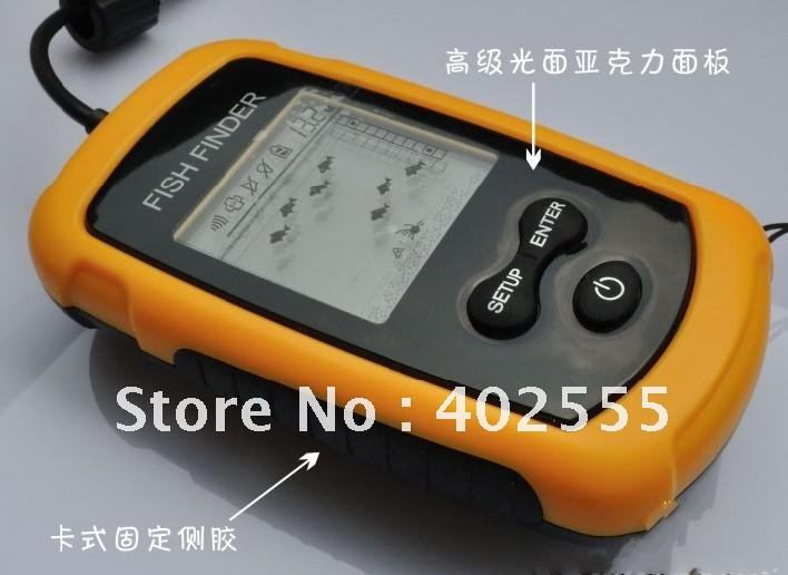 Portable sonar lcd fish finder alarm 100m ap fishing iure for Ice fish finder
