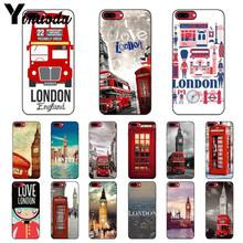 Yinuoda London big ben Bus Soft Silicone TPU Phone Cover for iPhone 8 7 6 6S Plus 5 5S SE XR X XS MAX Coque Shell(China)