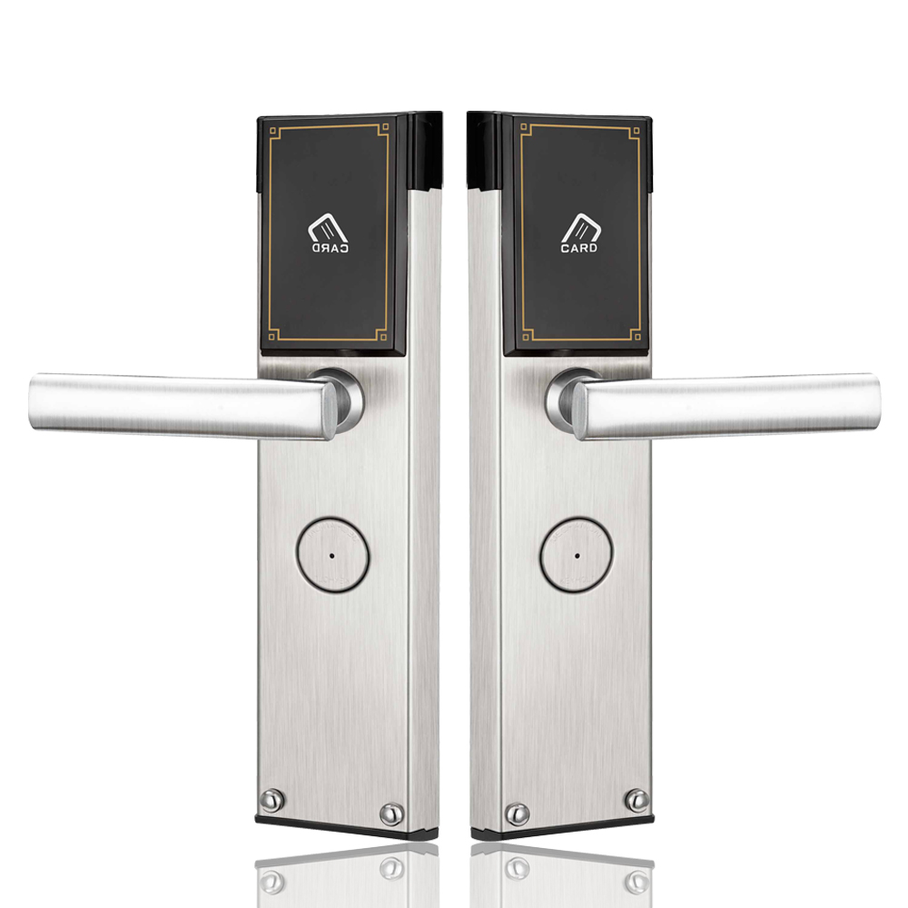 Hotel Electronic Smart Keyless RFID Card Door Lock Digital Access Control Key Card Hotel Lock Door lachco card hotel lock digital smart electronic rfid card for office apartment hotel room home latch with deadbolt l16058bs