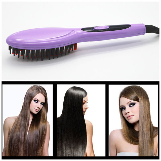 Free Shipping Hair Brush Fast Hair Straightener Comb hair Electric brush comb Irons Auto Straight Hair Comb brush