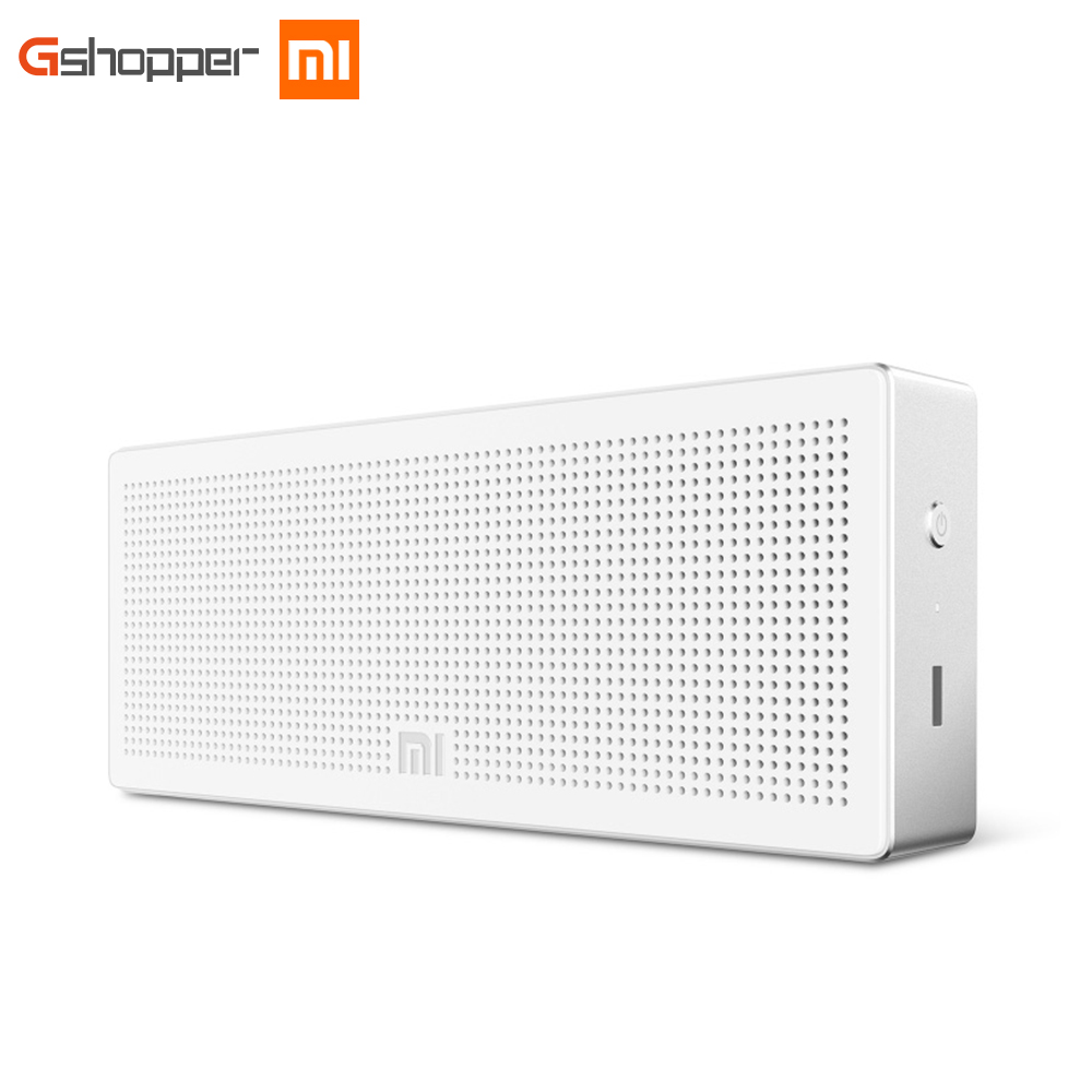 Freeshipping 100% Original Xiaomi Mi Bluetooth Speaker Box Portable Wirelee Square Sound Box Speaker for Smartphone PC Computer mi bluetooth speaker