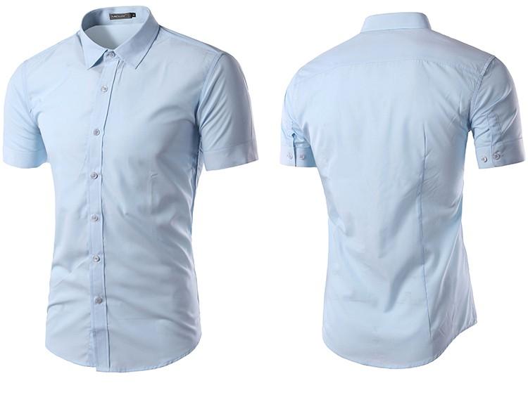 camisa social manga curta, camisa social manga curta azul slim fit