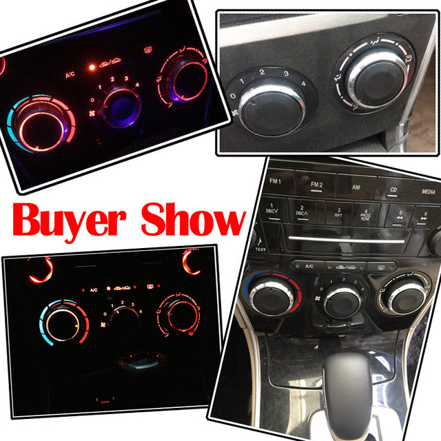 online shop for mazda 6 m6 2004 2009 switch knob knobs heat heater Custom Car Radio for mazda 6 m6 2004 2009 switch knob knobs heat heater control buttons dials frame ring a c air con cover 2006 2005 2007 2008