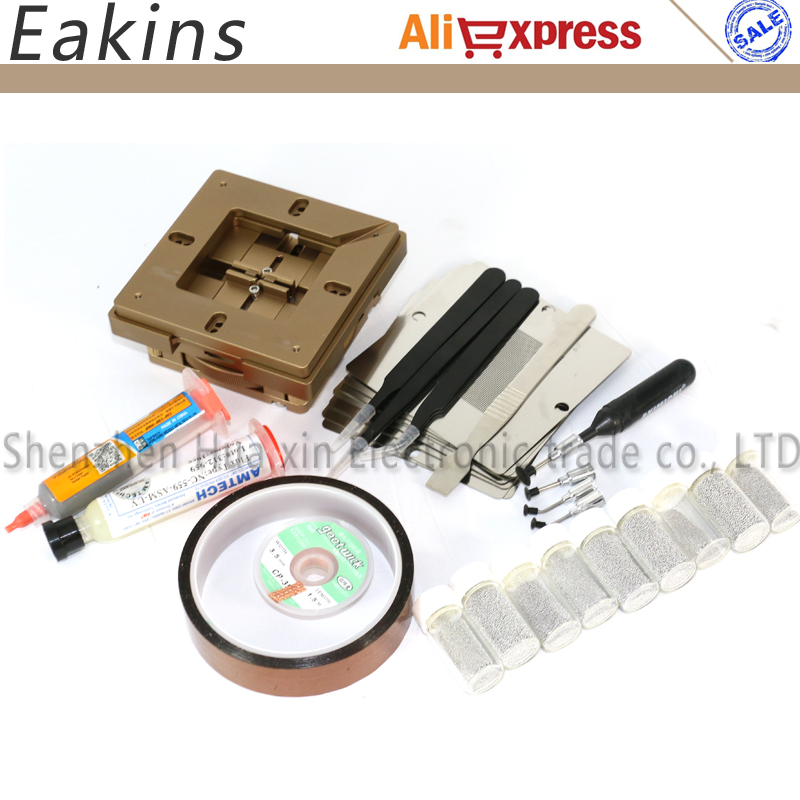 90mm Aluminium alloy BGA Reballing Station BGA Reball Kit Magnetism Lock+10 pcs 90mm Universal Bga Stencil + lot accessories