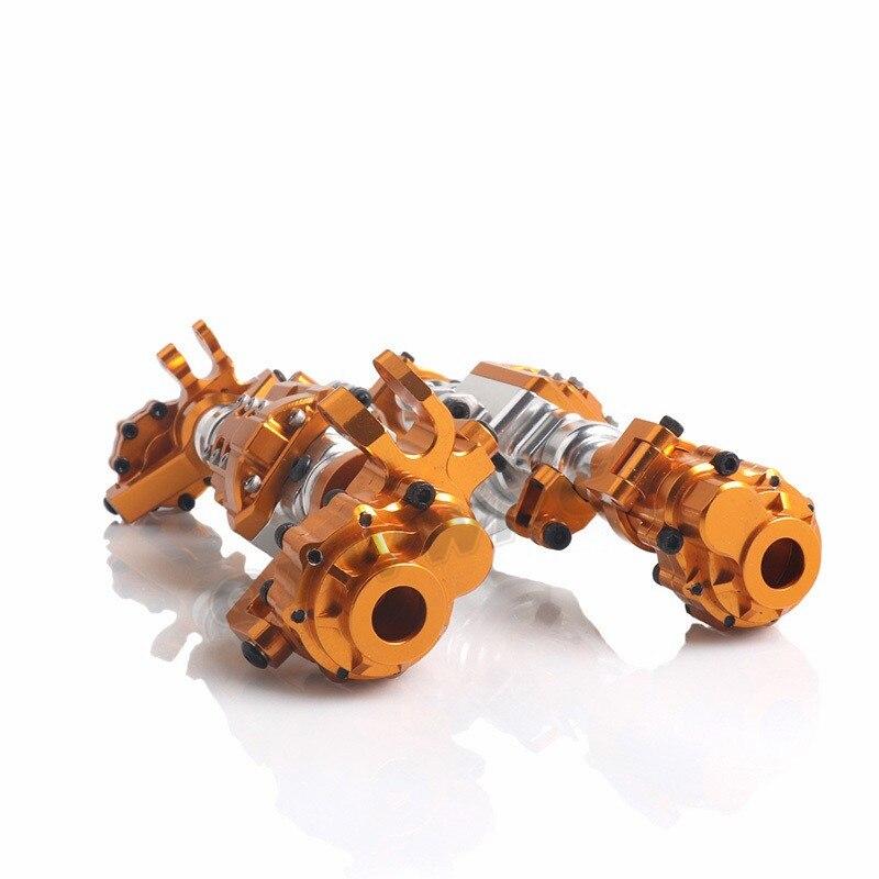 Металл RC автомобиль передний/задний мост 1/10 RC Рок Гусеничный Для осевой WRAITH 90018 90020 90045 RR10 90048 90053 RC запчасти - 6