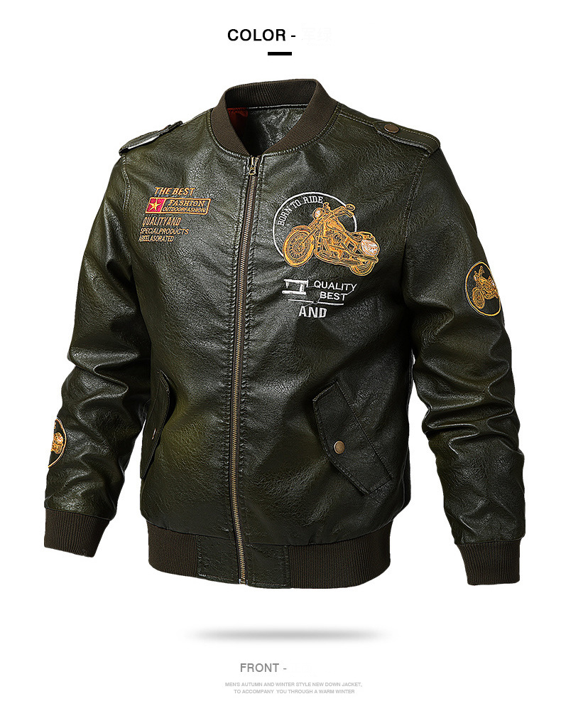 HTB1DnaJdoGF3KVjSZFmq6zqPXXaX Men's Leather Jackets and Coats Male Motorcycle Leather Jacket Casual Slim Brand Clothing V-Neck Collar Coats